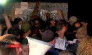 სოფელ გუმათში პოლიციასა და აქციის მონაწილეებს შორის დაპირისპირება მოხდა (ვიდეო)