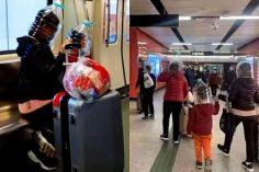 სამედიცინო ნიღბის დეფიციტის ფონზე, ჩინეთში ტურისტებმა თავზე ბოთლი ჩამოიცვეს
